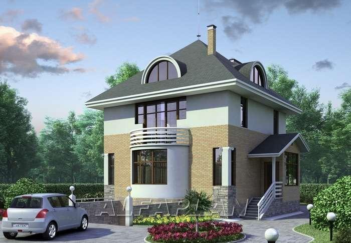 Дизайн загородного трехэтажного дома